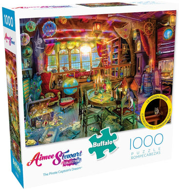 Aimee Stewart - The Pirate Captain's Dream - 1000 Piece Jigsaw Puzzle with Hidden Images - Roll2Learn
