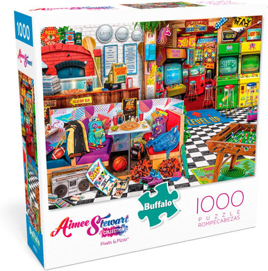 Aimee Stewart - Pixels and Pizza - 1000 Piece Jigsaw Puzzle - Roll2Learn