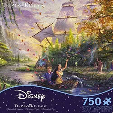 Thomas Kinkade The Disney Collection Pocahontas Jigsaw Puzzle, 750 Pieces - Roll2Learn