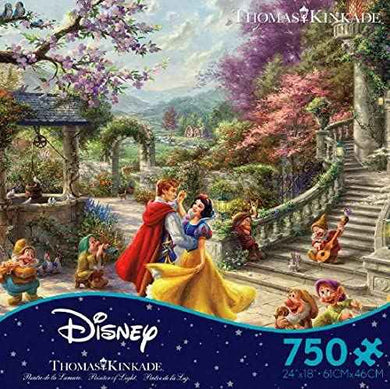 Thomas Kinkade The Disney Collection Snow White Sunlight Jigsaw Puzzle, 750 Pieces - Roll2Learn