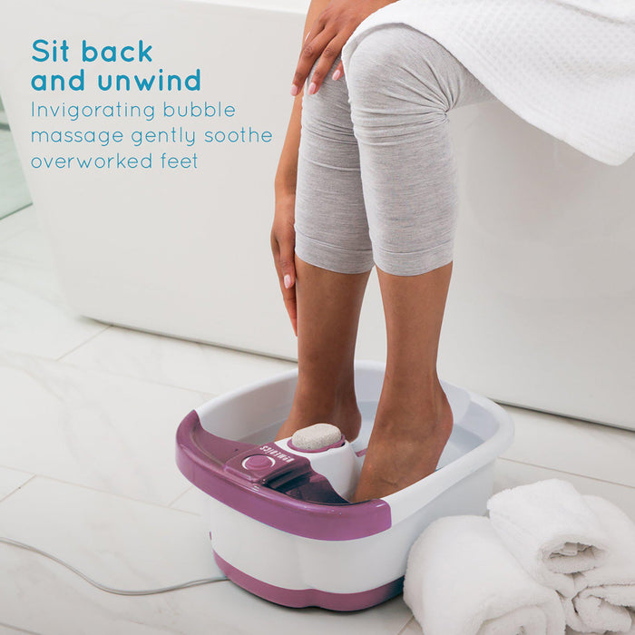 HoMedics Bubble Mate Foot Spa + Keep Warm Function