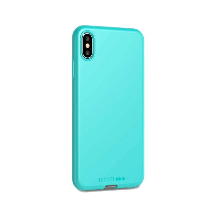 Tech21 Studio Colour Antibacterial iPhone XS Max Cover - Cornflour Blue