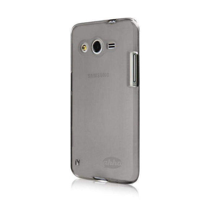 Ahha Gummi Shell Moya Samsung Galaxy Core 2 Cover (Clear Black)