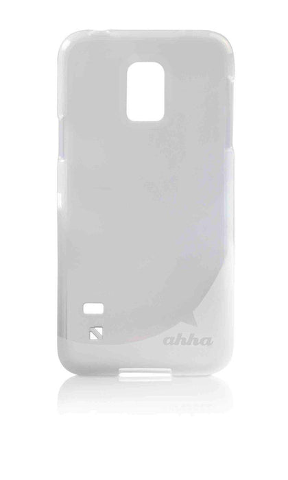 Ahha Gummi Shell Moya Samsung Galaxy S5 Mini Cover (Clear/White)