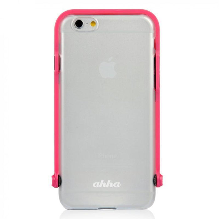 Ahha Selfie Snap Shot Case iPhone 6/6S Tint Cover (Clear/Pink)