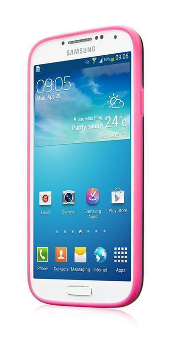 Capdase Soft Jacket Glimma Samsung Galaxy S4 Cover (Black/Fuschia)