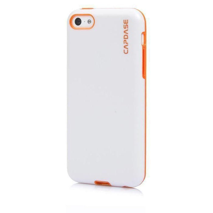 Capdase Soft Jacket Vika iPhone 5/5S Cover (White/Orange)