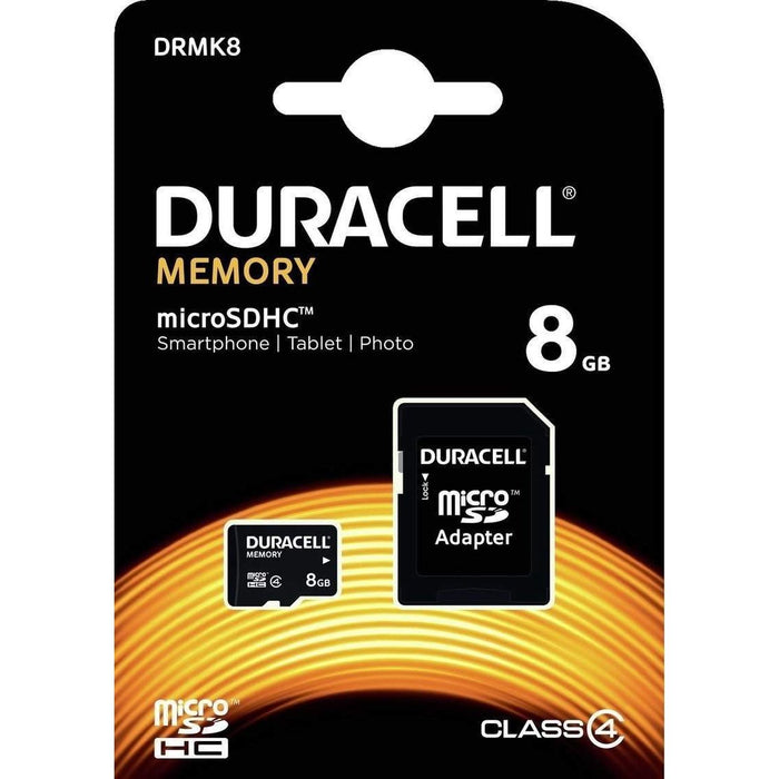 Duracell 8GB Micro SD Class 4 + SD Adapter