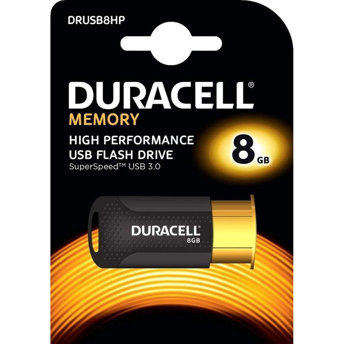 Duracell 8GB USB 3.1 High Performance Flash Drive