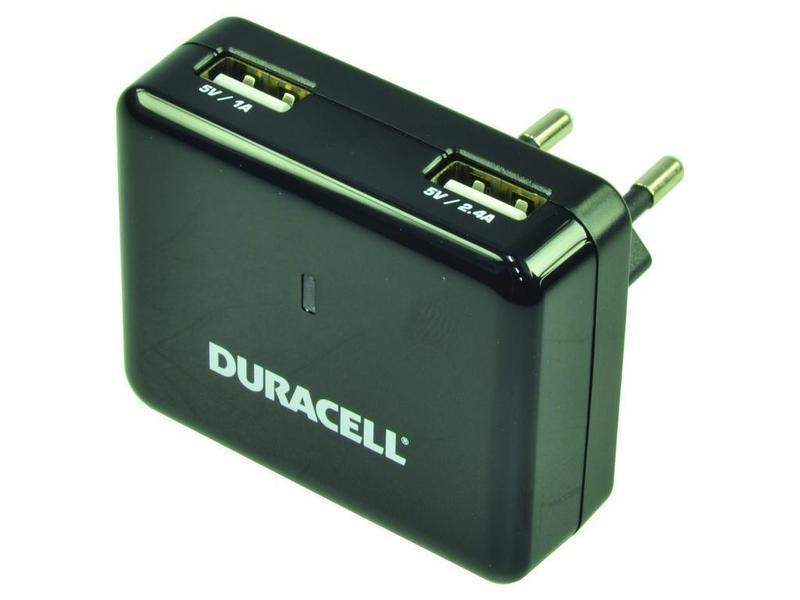 Duracell Dual USB 2.4A Wall Charger 1A