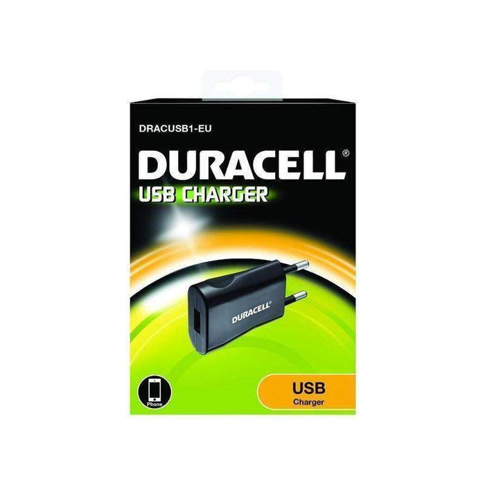 Duracell Single Port USB AC Plug 1A