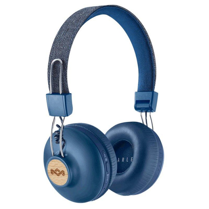 House of Marley Positive Vibration Bluetooth Headphones (Denim)