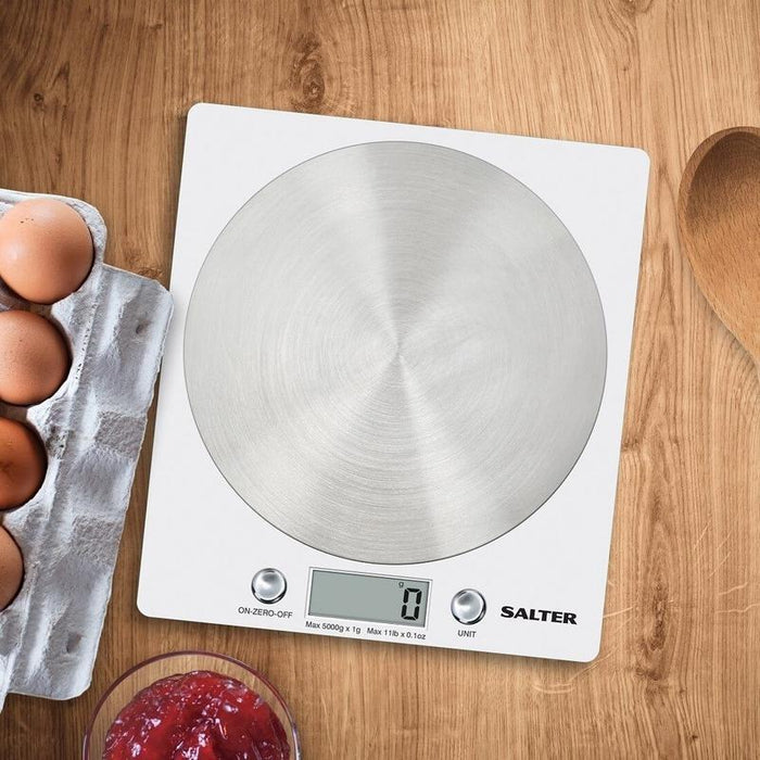 Salter Block Electronic Kitchen Scale (White)