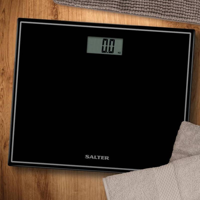 Salter Compact Glass Electronic Scale (Black)