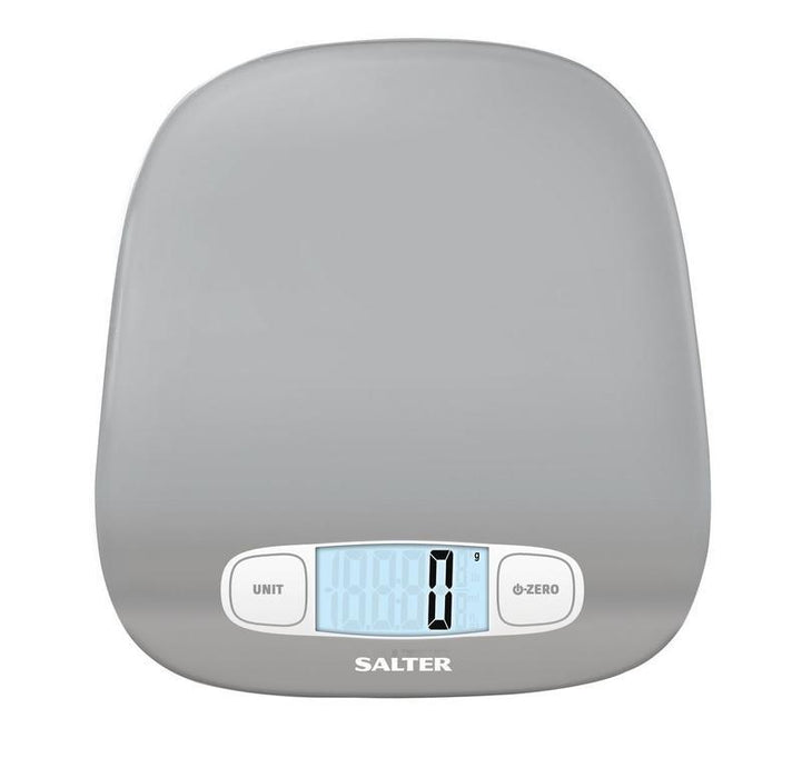 Salter Contour 6kg Electronic Kitchen Scale (Silver)