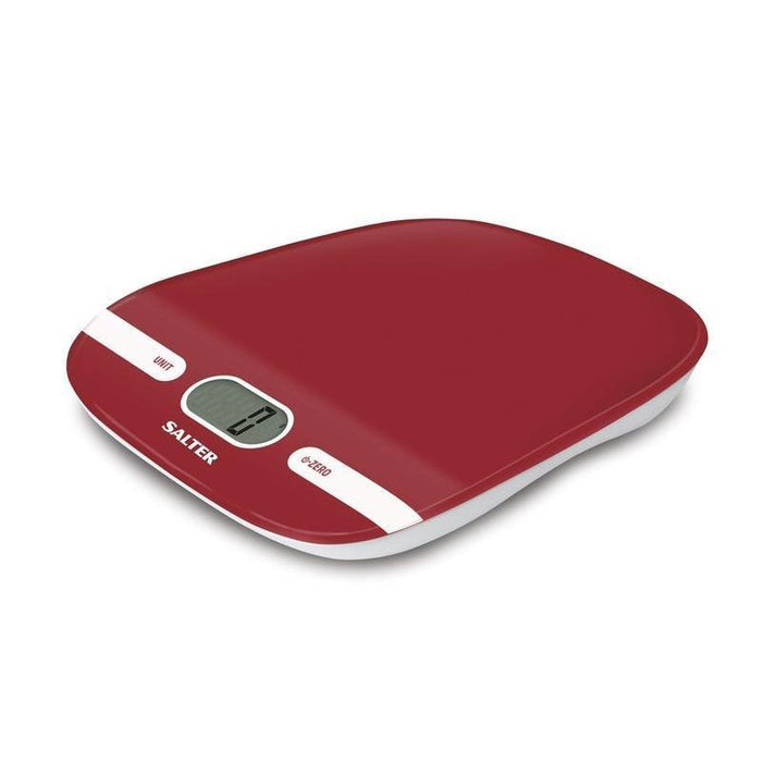 Salter Contour Kitchen Scale (Red)