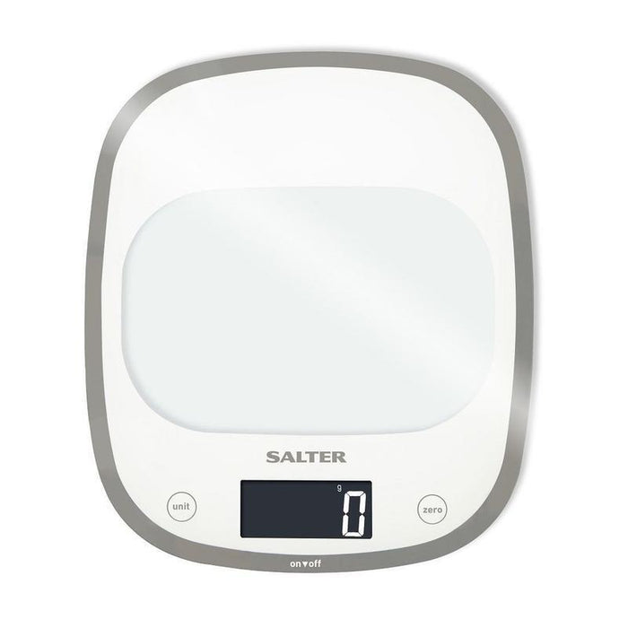 Salter Curve Glass Electronic Scale (White)