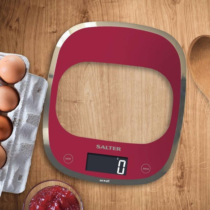 Salter Curve Kitchen Scale (Red)