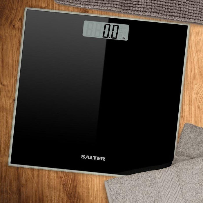 Salter Electronic Glass Bathroom Scale (Black)