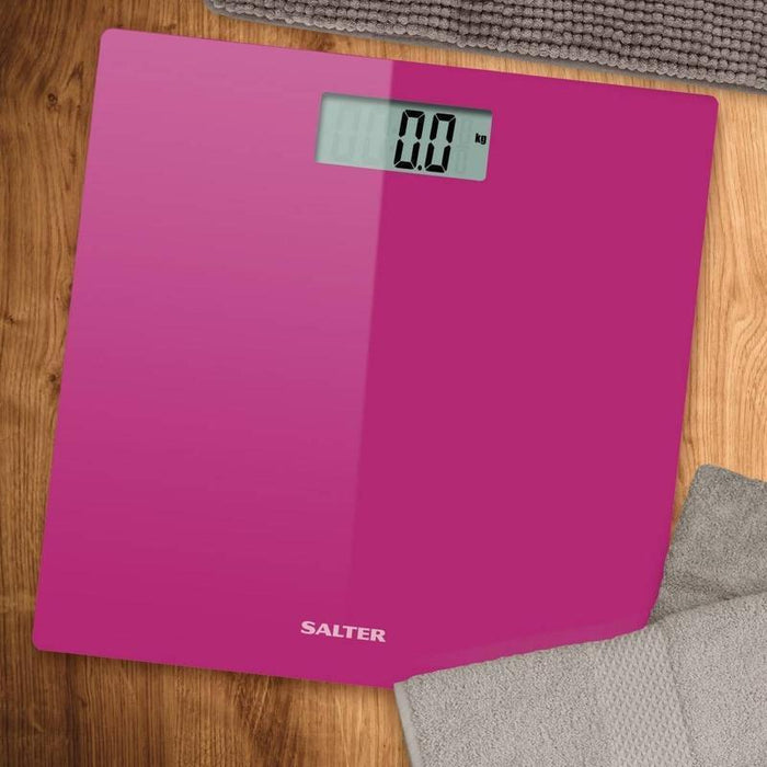 Salter Glass Bathroom Scale (Pink)