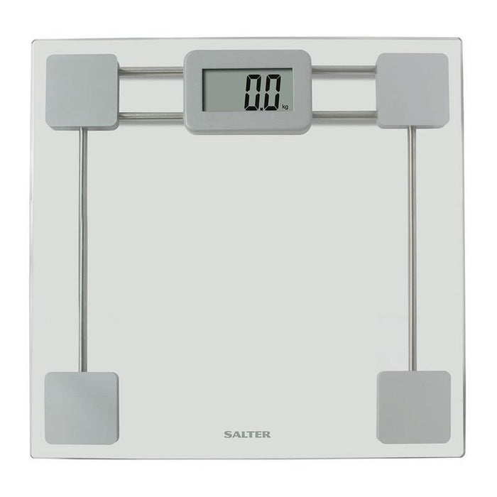 Salter Glass Electronic Bathroom Scale (Silver)