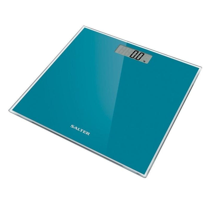 Salter Glass Electronic Bathroom Scale (Teal)