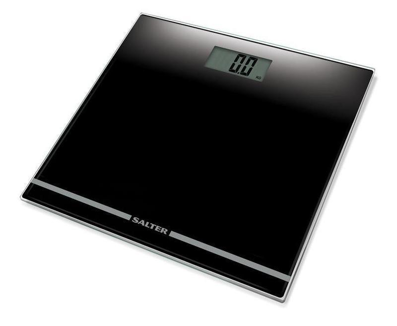 Salter Large Display Glass Electronic Scale (Black)