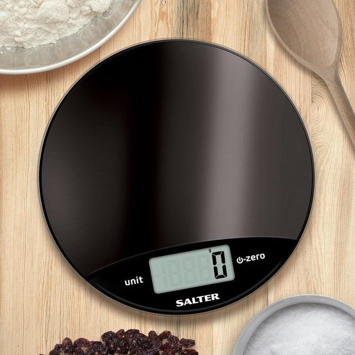 Salter Metallic Electronic Kitchen Scale (Black)
