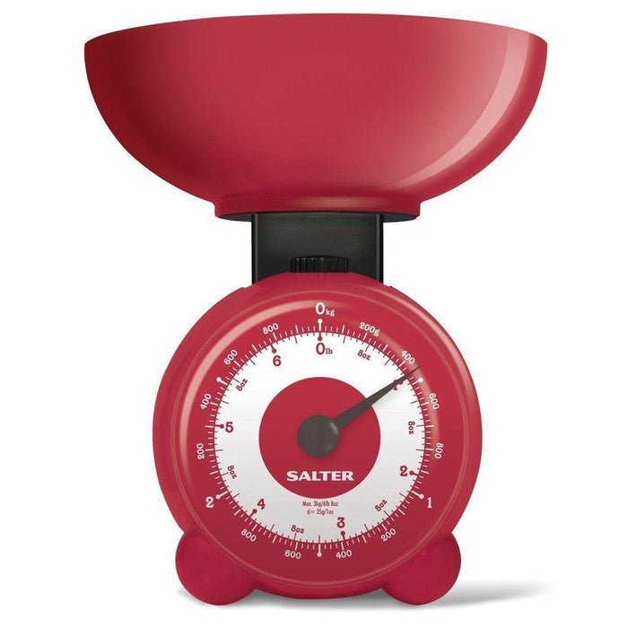 Salter Orb Kitchen Scale (Red)