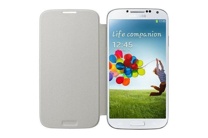 Samsung Flip Cover Galaxy S4 Cover (White)