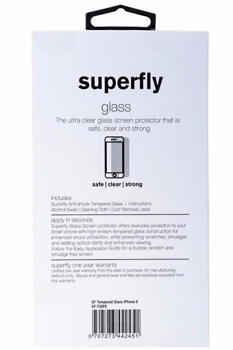 Superfly iPhone X/10 Tempered Glass Screen Protector