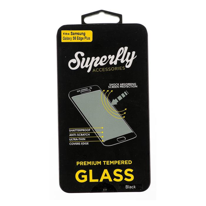 Superfly Tempered Glass Screen Protector Galaxy S6 Edge Plus 0.22 (Black Border)