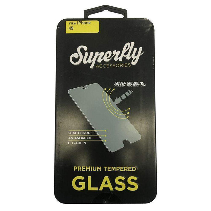Superfly Tempered Glass Screen Protector iPhone 4S (Clear)