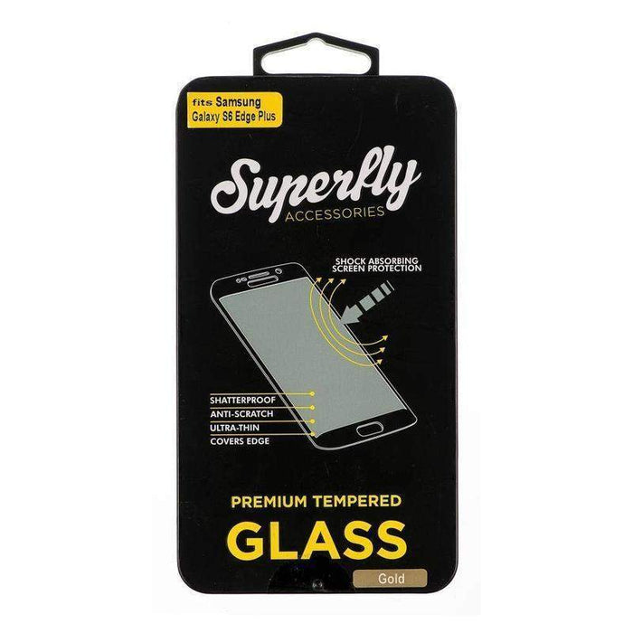 Superfly Tempered Glass Screen Protector Samsung Galaxy S6 Edge Plus V2 (Gold)