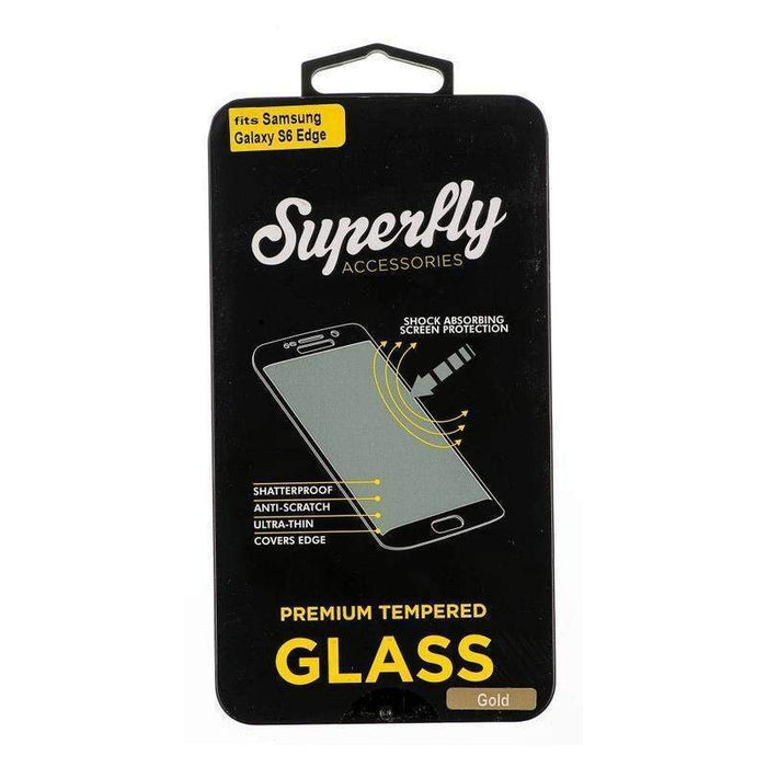 Superfly Tempered Glass Screen Protector Samsung Galaxy S6 Edge V2 (Gold)