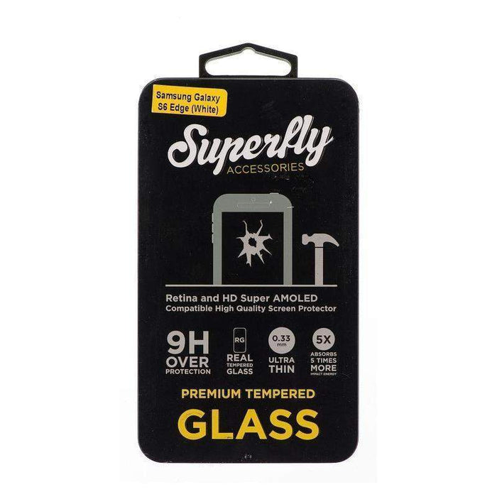 Superfly Tempered Glass Screen Protector Samsung Galaxy S6 Edge (White)