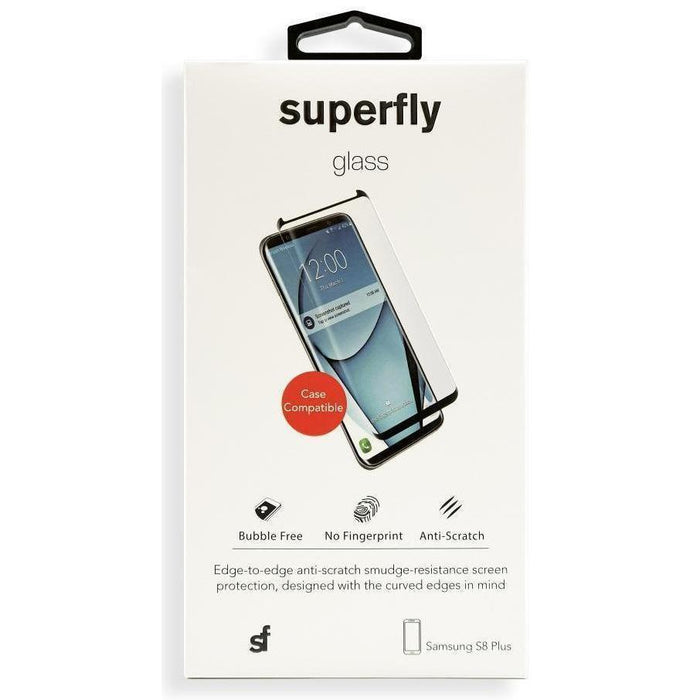 Superfly Tempered Glass Screen Protector Samsung Galaxy S8 Plus Case Friendly