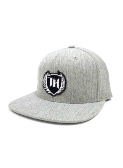 110 Hybrid Snap Back Gray White Logo
