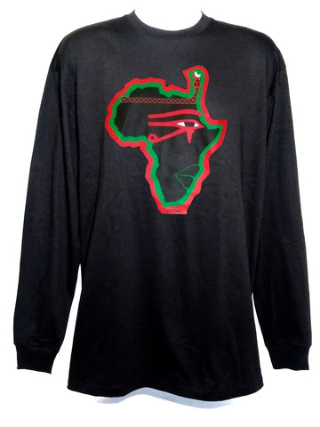 Phat Red, Black & Green Long Sleeve T-shirt