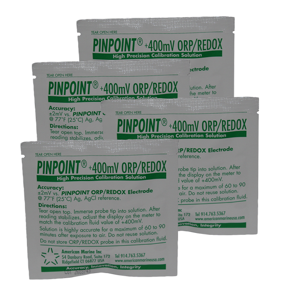 <i>PINPOINT</i>® ORP (REDOX) Calibration Fluid (set of 4 pouches)