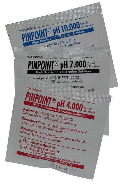 <i>PINPOINT</i>® High-Precision pH Calibration Fluids (set of 12 pouches)