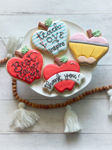 Individual Teacher Cookies | Teacher Appreciation