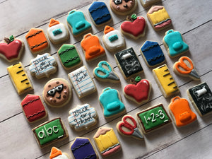 Mini Back to School Cookies