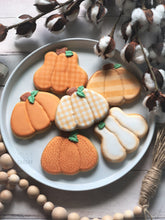 Load image into Gallery viewer, Plaid Pumpkin Cookies