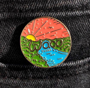 Waco - Lovers Leap Sunset Pin
