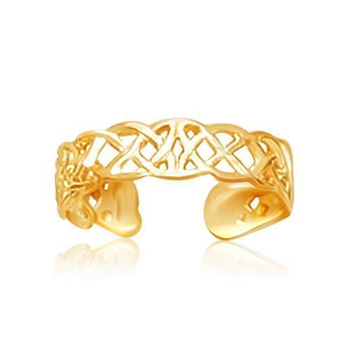 14k Yellow Gold Toe Ring in a Celtic Knot Style
