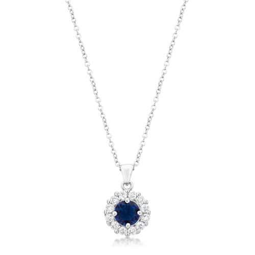 Bella Bridal Pendant in Blue