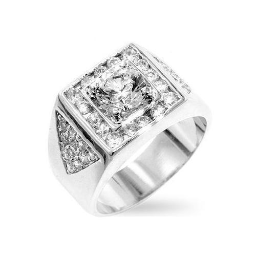 Brilliant Men's Cubic Zirconia Ring