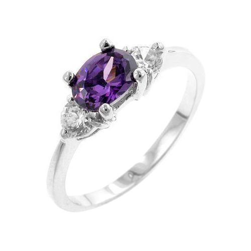 Oval Sonnet Cubic Zirconia Ring