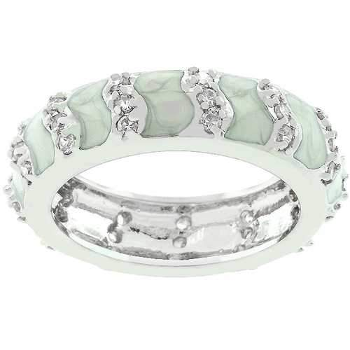 Gray Eternity Enamel Ring